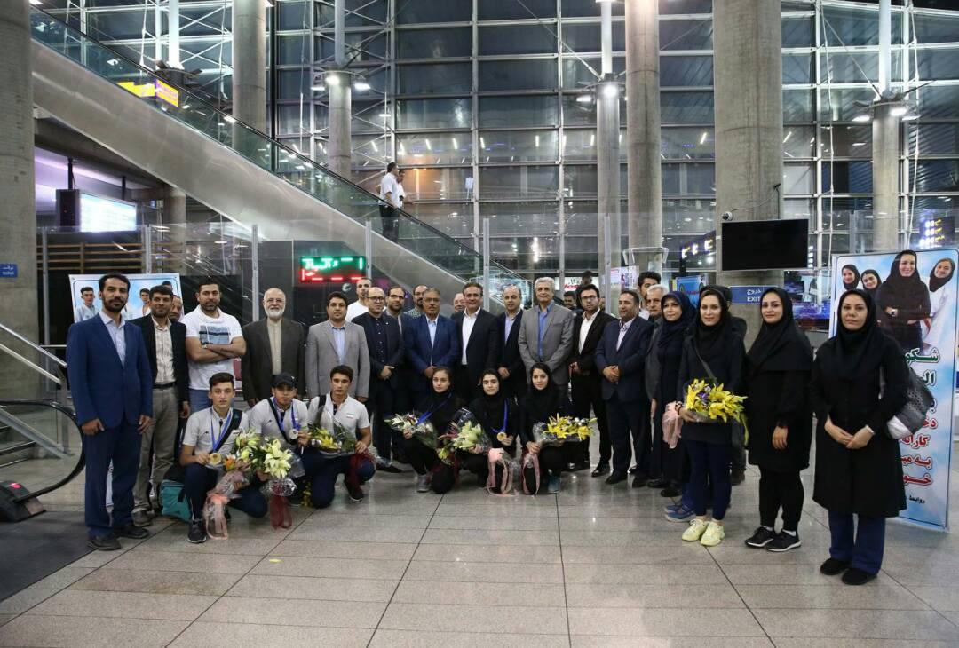 بازگشت پیروزمندانه تیم ملی کاراته جوانان از مسابقات گینشی المپیک